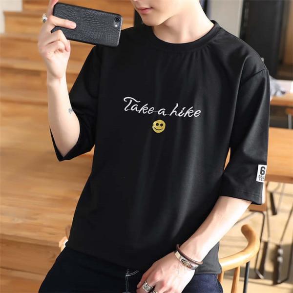 ティーシャツ メンズ 半袖Tシャツ 無地Tシャツ サマー Tシャツ クルーネック 夏 サマー カジュアル お兄系 涼しい 99mate 17