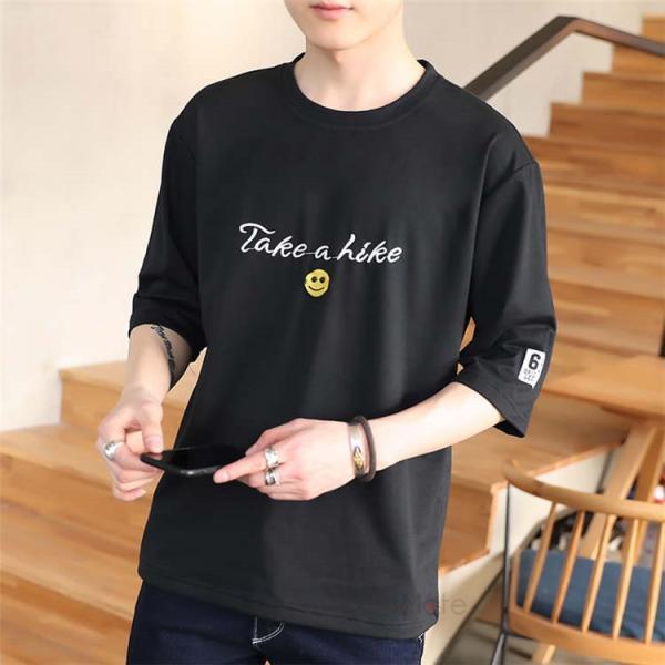 ティーシャツ メンズ 半袖Tシャツ 無地Tシャツ サマー Tシャツ クルーネック 夏 サマー カジュアル お兄系 涼しい 99mate 19