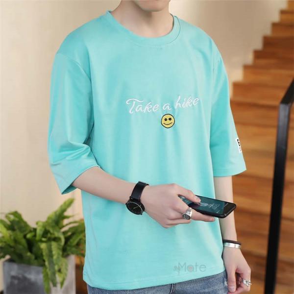 ティーシャツ メンズ 半袖Tシャツ 無地Tシャツ サマー Tシャツ クルーネック 夏 サマー カジュアル お兄系 涼しい 99mate 04