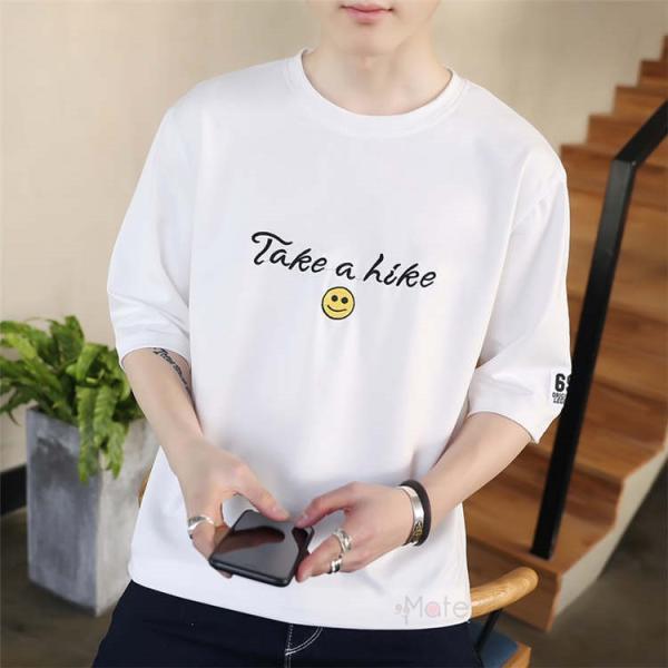 ティーシャツ メンズ 半袖Tシャツ 無地Tシャツ サマー Tシャツ クルーネック 夏 サマー カジュアル お兄系 涼しい 99mate 08