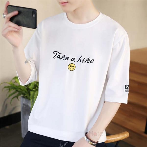 ティーシャツ メンズ 半袖Tシャツ 無地Tシャツ サマー Tシャツ クルーネック 夏 サマー カジュアル お兄系 涼しい 99mate 09