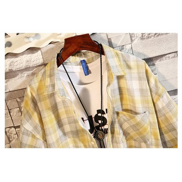 開襟シャツ メンズ 半袖シャツ カジュアルシャツ チェック柄 通勤 通学 半袖 部屋着 ビジネス おしゃれ 夏|99mate|11