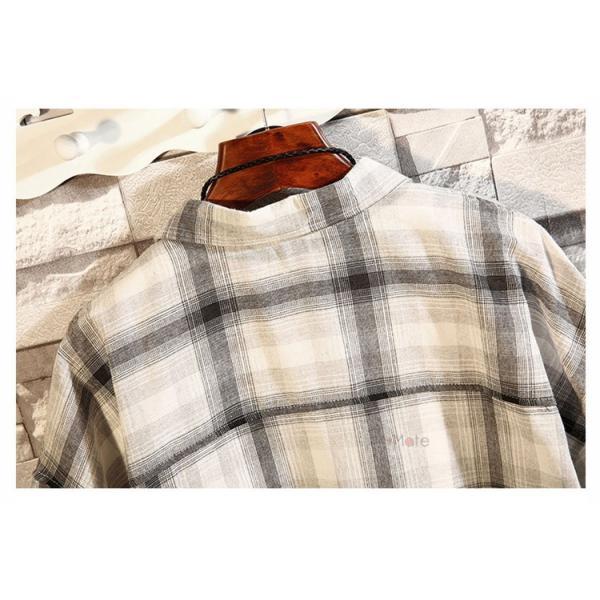 開襟シャツ メンズ 半袖シャツ カジュアルシャツ チェック柄 通勤 通学 半袖 部屋着 ビジネス おしゃれ 夏|99mate|12