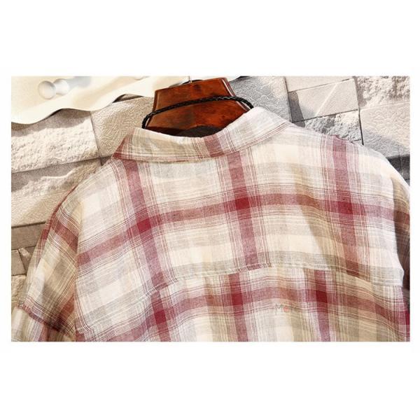開襟シャツ メンズ 半袖シャツ カジュアルシャツ チェック柄 通勤 通学 半袖 部屋着 ビジネス おしゃれ 夏|99mate|13