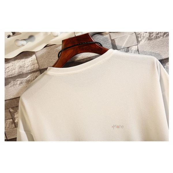 カジュアル Tシャツ メンズ クルーネック カットソー 半袖Tシャツ トップス ルームウェア 部屋着 大きいサイズ お兄系 夏服|99mate|11