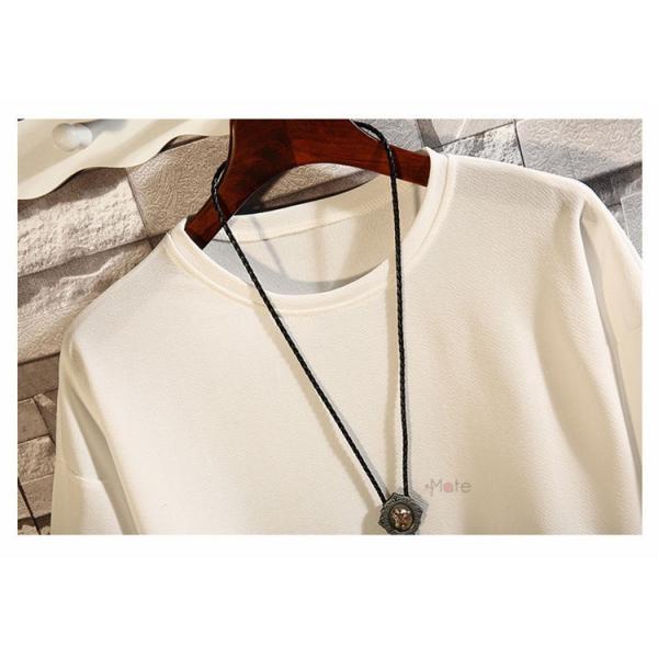 カジュアル Tシャツ メンズ クルーネック カットソー 半袖Tシャツ トップス ルームウェア 部屋着 大きいサイズ お兄系 夏服|99mate|12
