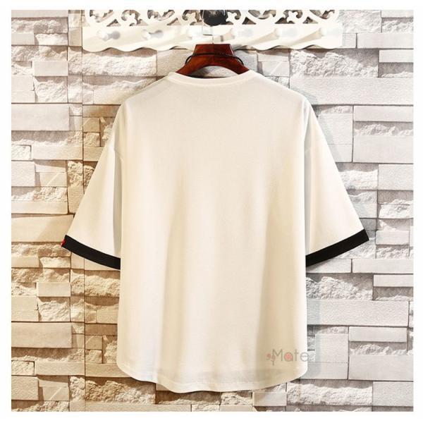 カジュアル Tシャツ メンズ クルーネック カットソー 半袖Tシャツ トップス ルームウェア 部屋着 大きいサイズ お兄系 夏服|99mate|04