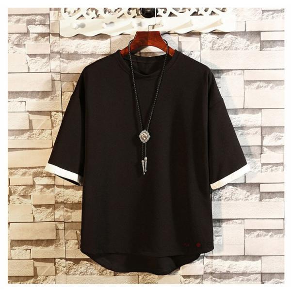 カジュアル Tシャツ メンズ クルーネック カットソー 半袖Tシャツ トップス ルームウェア 部屋着 大きいサイズ お兄系 夏服|99mate|07
