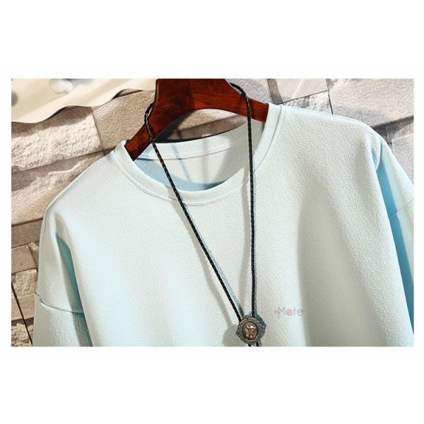 カジュアル Tシャツ メンズ クルーネック カットソー 半袖Tシャツ トップス ルームウェア 部屋着 大きいサイズ お兄系 夏服|99mate|08