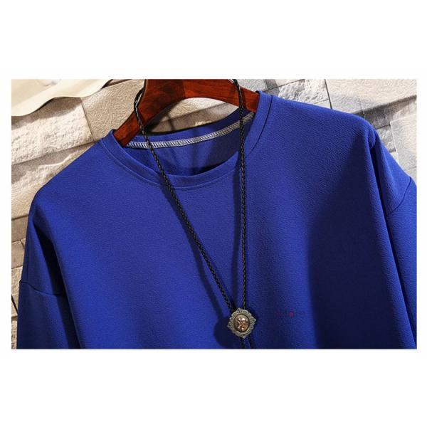 カジュアル Tシャツ メンズ クルーネック カットソー 半袖Tシャツ トップス ルームウェア 部屋着 大きいサイズ お兄系 夏服|99mate|09