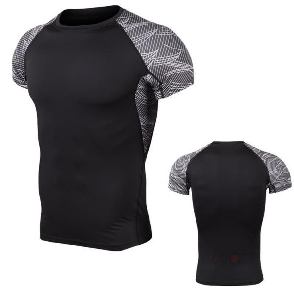コンプレッションウェア 半袖 メンズ Tシャツ スポーツウェア スポーツシャツ 夏 インナー 加圧シャツ アンダー トレーニングウェア セール|99mate|13
