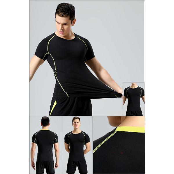 コンプレッションウェア 半袖 メンズ Tシャツ スポーツウェア スポーツシャツ 夏 インナー 加圧シャツ アンダー トレーニングウェア セール|99mate|04