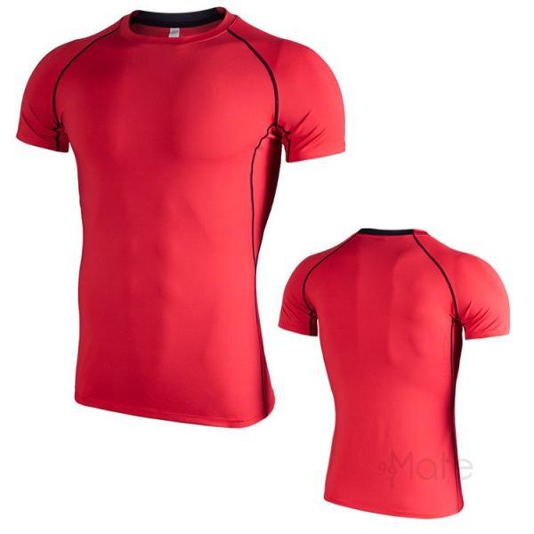 コンプレッションウェア 半袖 メンズ Tシャツ スポーツウェア スポーツシャツ 夏 インナー 加圧シャツ アンダー トレーニングウェア セール|99mate|08