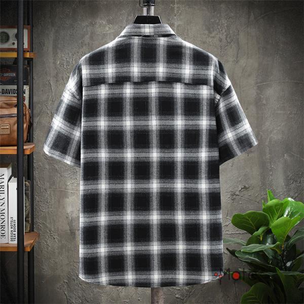チェックシャツ メンズ トップス 半袖シャツ ネルシャツ カジュアルシャツ 薄手シャツ 半袖 ルームウェア お兄系 ゆったり 2019夏 セール|99mate|07