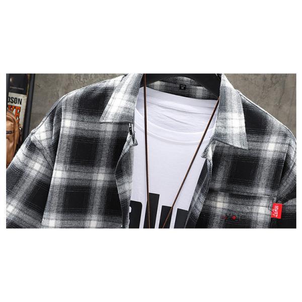 チェックシャツ メンズ トップス 半袖シャツ ネルシャツ カジュアルシャツ 薄手シャツ 半袖 ルームウェア お兄系 ゆったり 2019夏 セール|99mate|08