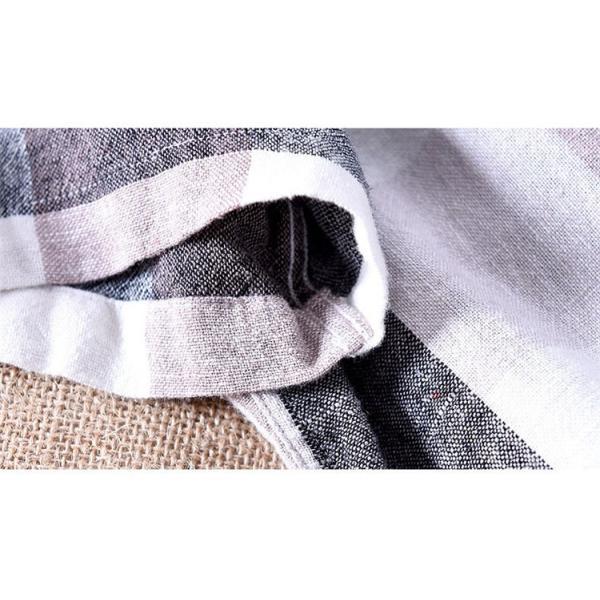 綿麻シャツ メンズ カジュアル チェックシャツ 開襟シャツ リネンシャツ 半袖シャツ 薄手 ルームウェア お兄系 おしゃれ 綿麻 夏|99mate|14