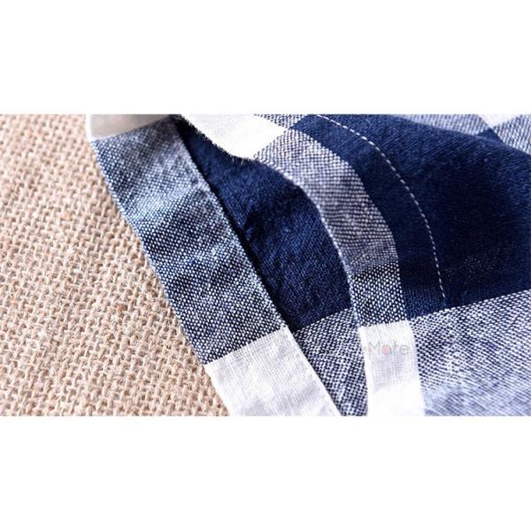 綿麻シャツ メンズ カジュアル チェックシャツ 開襟シャツ リネンシャツ 半袖シャツ 薄手 ルームウェア お兄系 おしゃれ 綿麻 夏|99mate|18