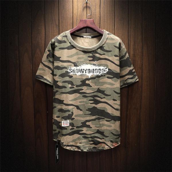 半袖 ティーシャツ メンズ 迷彩柄 Tシャツ カジュアル 半袖Tシャツ プリントTシャツ お兄系 おしゃれ 夏新作|99mate|03