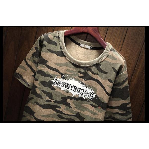 半袖 ティーシャツ メンズ 迷彩柄 Tシャツ カジュアル 半袖Tシャツ プリントTシャツ お兄系 おしゃれ 夏新作|99mate|06