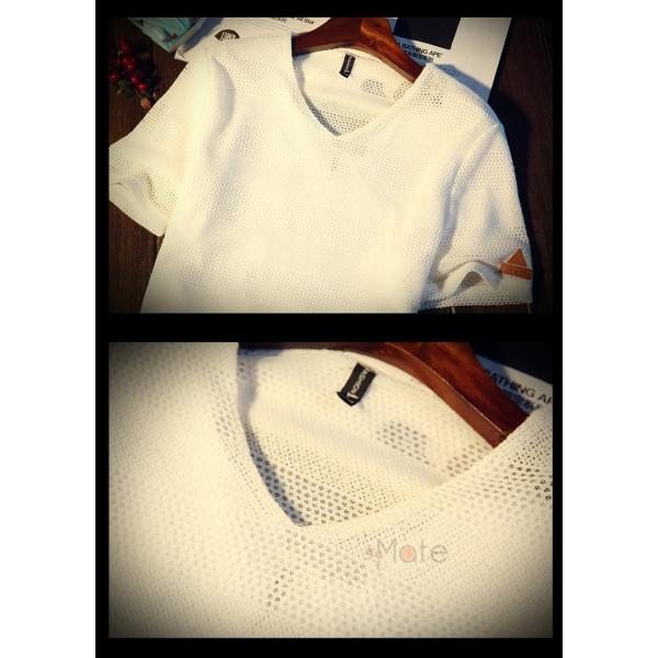 カジュアルTシャツ メンズ 半袖 Tシャツ ティーシャツ 無地 半袖Tシャツ Vネック かっこいい 夏新作 送料無料|99mate|11