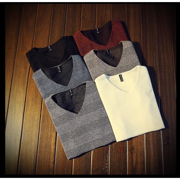 カジュアルTシャツ メンズ 半袖 Tシャツ ティーシャツ 無地 半袖Tシャツ Vネック かっこいい 夏新作 送料無料|99mate|04