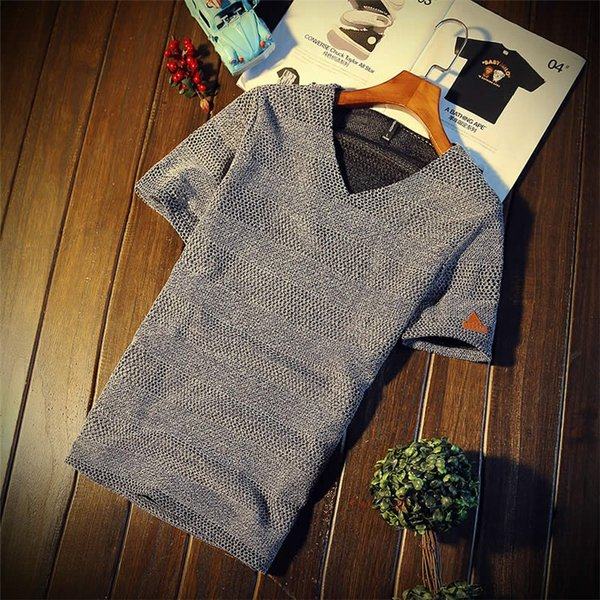 カジュアルTシャツ メンズ 半袖 Tシャツ ティーシャツ 無地 半袖Tシャツ Vネック かっこいい 夏新作 送料無料|99mate|06