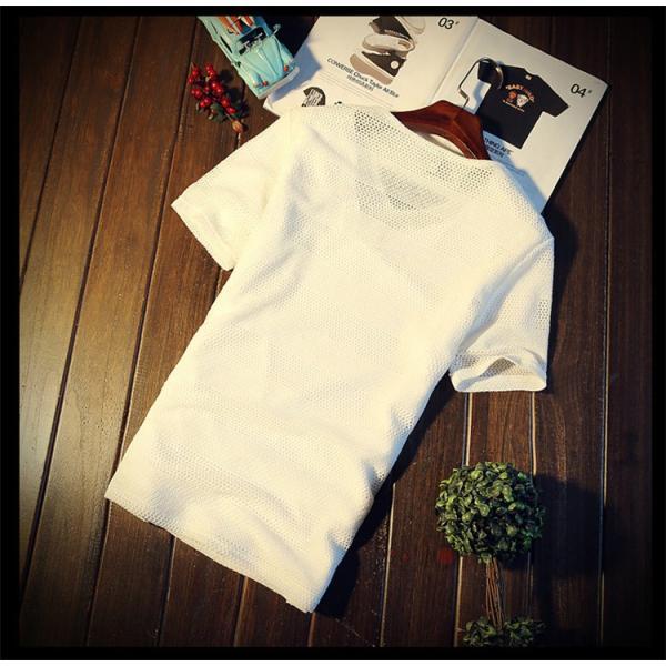 カジュアルTシャツ メンズ 半袖 Tシャツ ティーシャツ 無地 半袖Tシャツ Vネック かっこいい 夏新作 送料無料|99mate|10