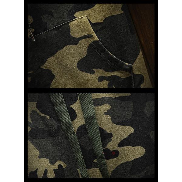 カジュアル パーカー メンズ 半袖パーカー フード付き ルームウェア 迷彩柄 スポーツ Tシャツ 五分袖 夏|99mate|10