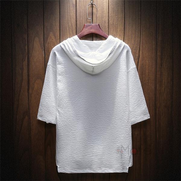 半袖Tシャツ 半袖パーカー メンズ フード付き プルオーバー 夏 無地 パーカー カジュアル スリム 夏新作 父の日|99mate|07