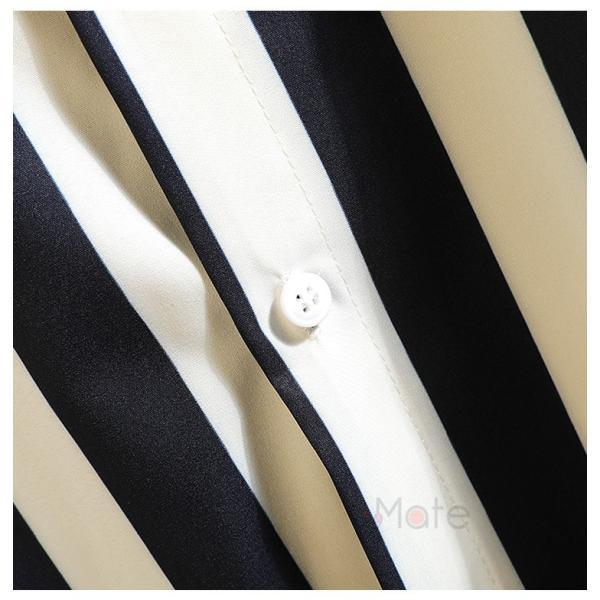 開襟シャツ メンズ シャツ 七分袖 カジュアルシャツ ストライプシャツ ルームウェア 紳士服 トップス 夏 父の日 99mate 10