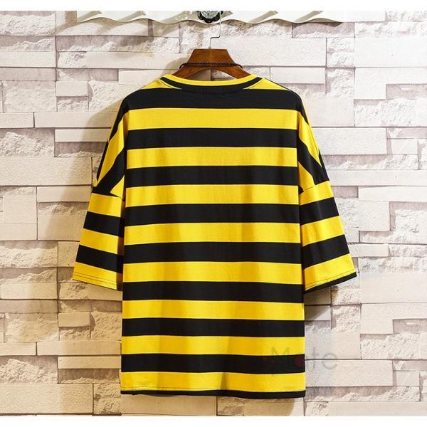 ティーシャツ メンズ Tシャツ 大きいサイズ カジュアル おしゃれ ボーダー柄 半袖Tシャツ お兄系 カットソー ゆったり 夏 送料無料|99mate|11