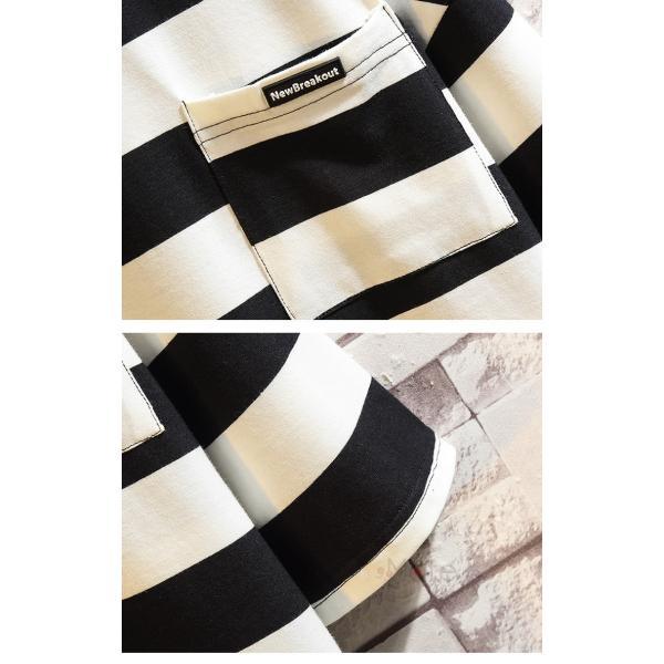 ティーシャツ メンズ Tシャツ 大きいサイズ カジュアル おしゃれ ボーダー柄 半袖Tシャツ お兄系 カットソー ゆったり 夏 送料無料|99mate|14
