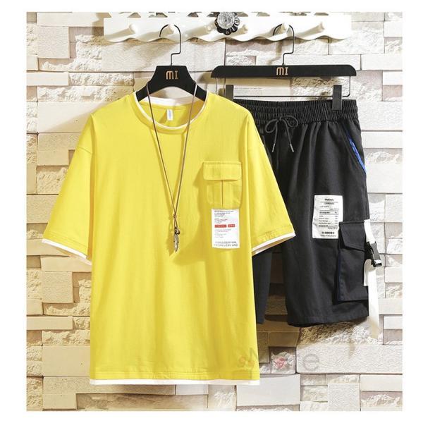 上下セット メンズ 半袖 Tシャツ スポーツウェア ショートパンツ セットアップ 部屋着 カジュアル ジャージ 夏新作|99mate|04