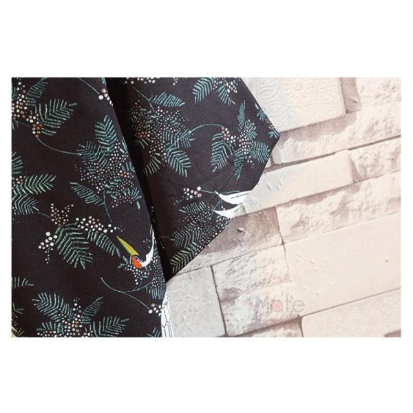 カジュアルシャツ メンズ 半袖 シャツ アロハシャツ 開襟シャツ ファッション 半袖シャツ 五分袖 鶴柄 夏 おしゃれ|99mate|07