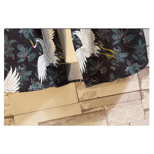 カジュアルシャツ メンズ 半袖 シャツ アロハシャツ 開襟シャツ ファッション 半袖シャツ 五分袖 鶴柄 夏 おしゃれ|99mate|08