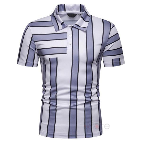 ポロシャツ メンズ ゴルフウェア 半袖ポロ POLO Tシャツ トップス カットソー 無地 通勤 新作 スリム 2019夏 99mate 04