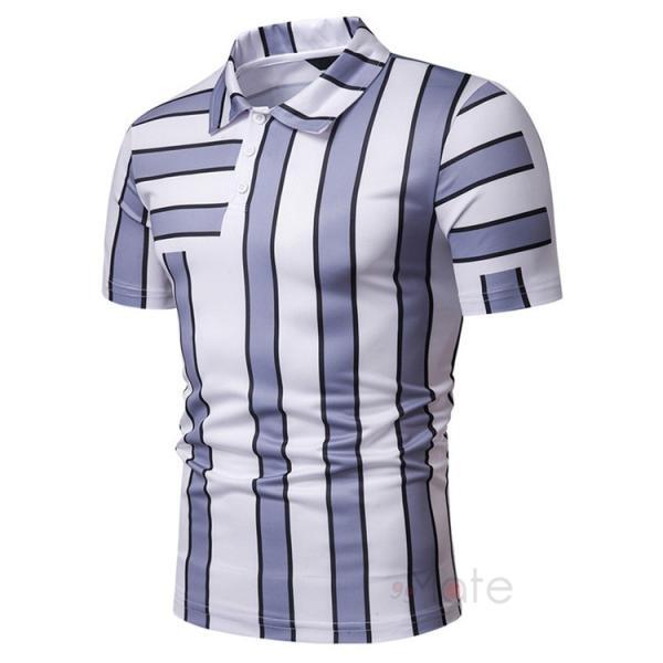 ポロシャツ メンズ ゴルフウェア 半袖ポロ POLO Tシャツ トップス カットソー 無地 通勤 新作 スリム 2019夏 99mate 05