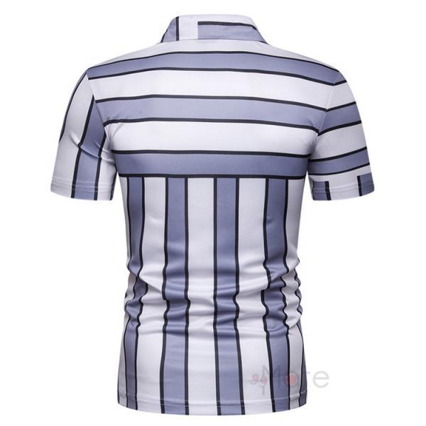 ポロシャツ メンズ ゴルフウェア 半袖ポロ POLO Tシャツ トップス カットソー 無地 通勤 新作 スリム 2019夏 99mate 06