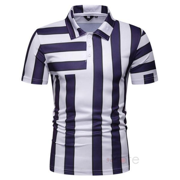 ポロシャツ メンズ ゴルフウェア 半袖ポロ POLO Tシャツ トップス カットソー 無地 通勤 新作 スリム 2019夏 99mate 07