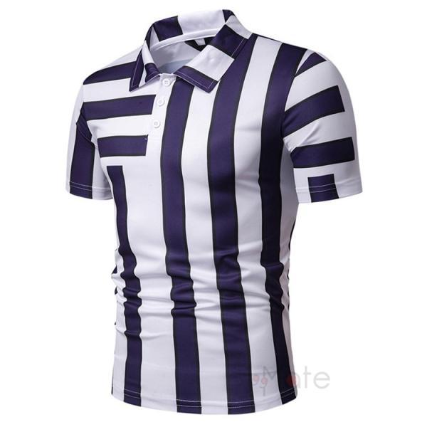 ポロシャツ メンズ ゴルフウェア 半袖ポロ POLO Tシャツ トップス カットソー 無地 通勤 新作 スリム 2019夏 99mate 08