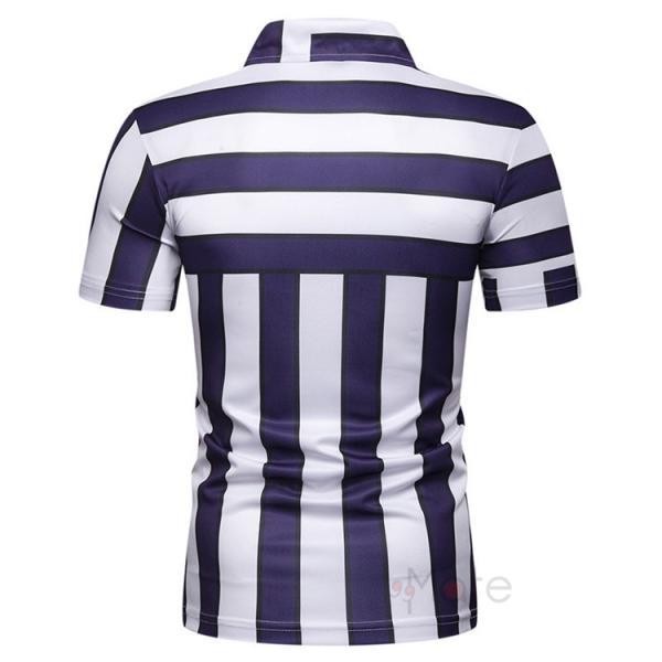 ポロシャツ メンズ ゴルフウェア 半袖ポロ POLO Tシャツ トップス カットソー 無地 通勤 新作 スリム 2019夏 99mate 09