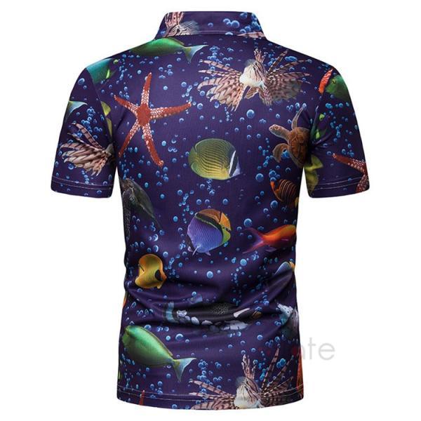 ポロシャツ メンズ Tシャツ 半袖ポロ カジュアルシャツ POLO ゴルフシャツ アメカジ 柄物 ゴルフウェア 夏|99mate|05