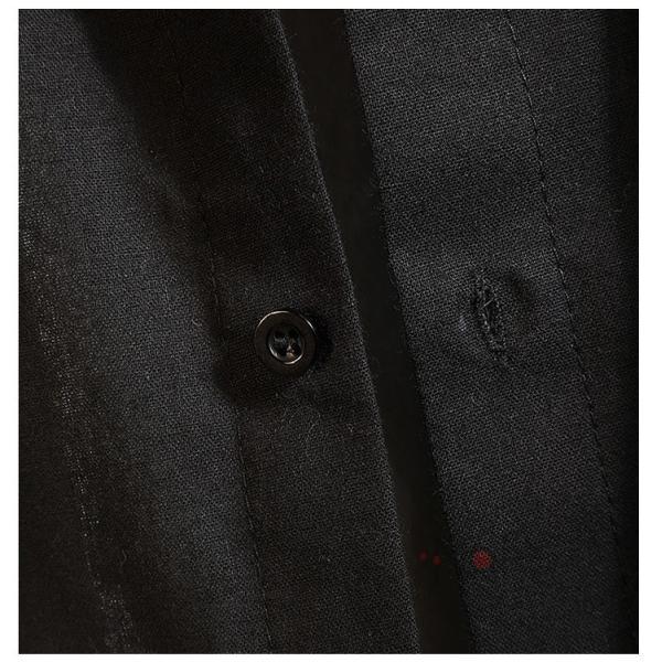 開襟シャツ メンズ 半袖シャツ 七分袖 夏物 おしゃれ トップス カジュアルシャツ 白シャツ ビジネス 通学 お兄系|99mate|18