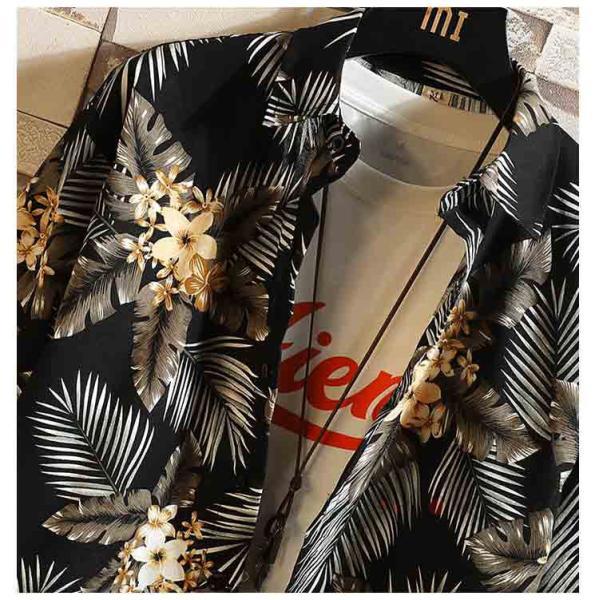 ハワイアンシャツ メンズ 半袖 七分袖 アロハシャツ 花柄 開襟シャツ カジュアルシャツ ハワイアン 半袖シャツ リゾート 夏新作|99mate|10