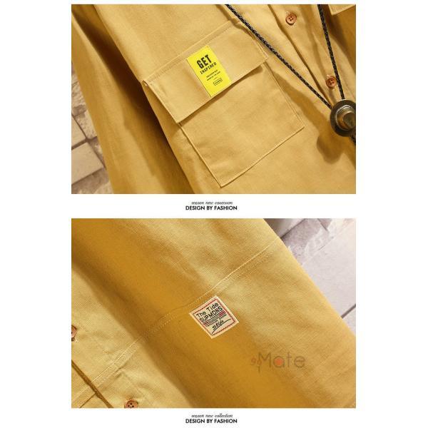 ワークシャツ 半袖シャツ メンズ 五分袖シャツ カジュアルシャツ ミリタリーシャツ アウトドア 夏 新作 99mate 15