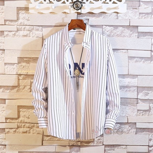 ストライプシャツ メンズ 長袖シャツ カジュアルシャツ ボタンダウンシャツ ビジネス 開襟シャツ 紳士服 おしゃれ|99mate|06