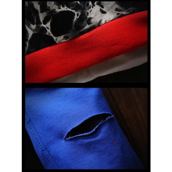 長袖 トレーナー メンズ フェイクレイヤード トップス Tシャツ ルームウェア クルーネック スウェット 新生活 秋服|99mate|11