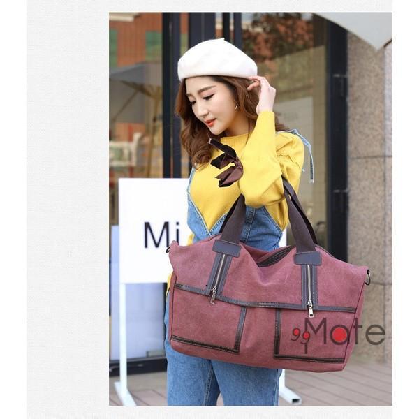 旅行カバン 大容量 ボストンバッグ キャンバストートバッグ ママバッグ マザーズバッグ 帆布 斜めがけ 鞄 カバン|99mate|13