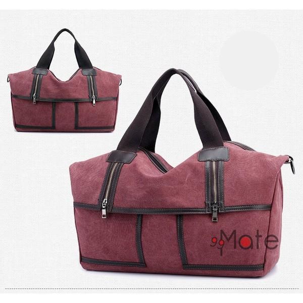 旅行カバン 大容量 ボストンバッグ キャンバストートバッグ ママバッグ マザーズバッグ 帆布 斜めがけ 鞄 カバン|99mate|19