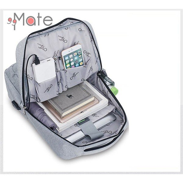 パソコンバッグ メンズ ビジネスリュック 多機能バックバッグ 収納 PC リュックサック ビジネスバッグ 書類 A4 撥水|99mate|03